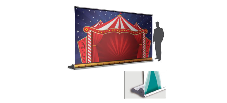 Extra WIDE Retractable Banner Stand